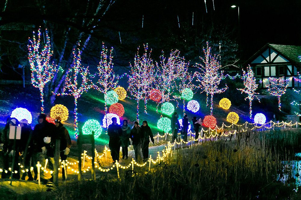 Guests with ChristmasTown Lights