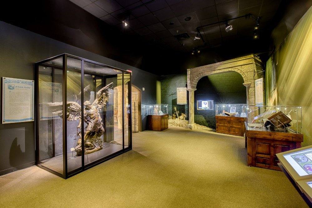 The Museum of the Bible exhibit at the Creation Museum.