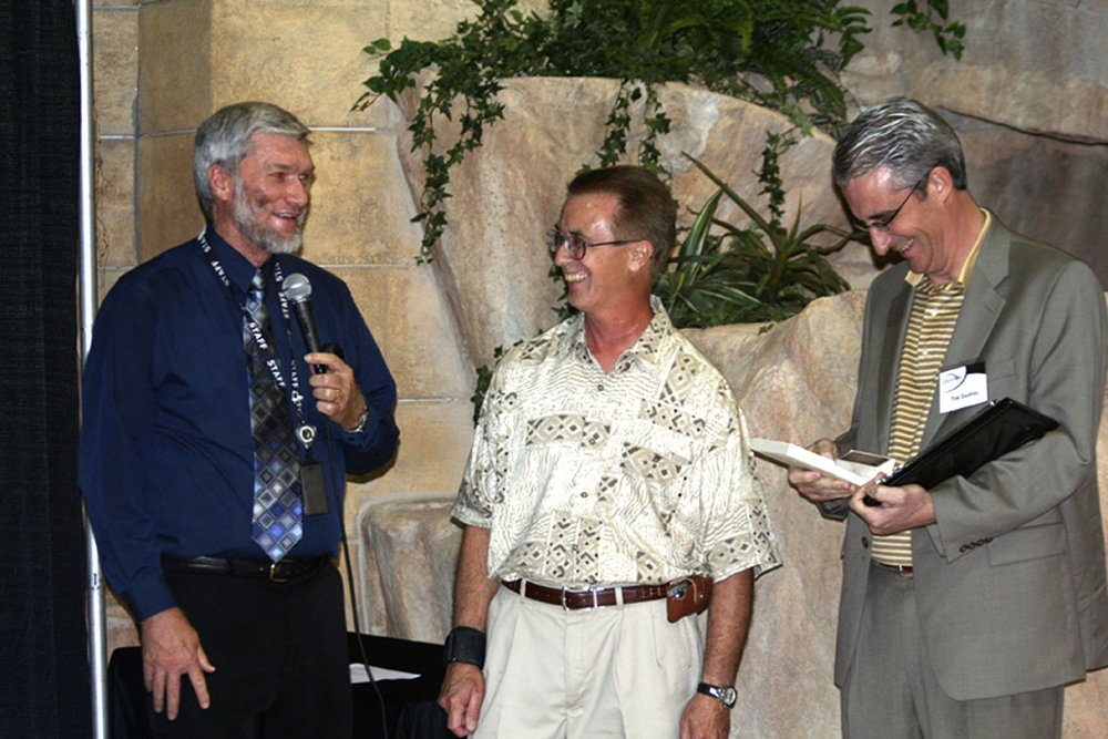 Ken Ham, Patrick Marsh, and Tim Dudley at the Planetarium Dedication