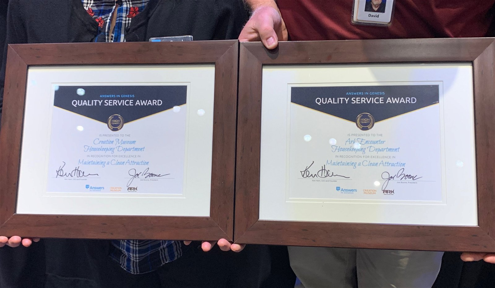 Presenting Quality Service Certificates