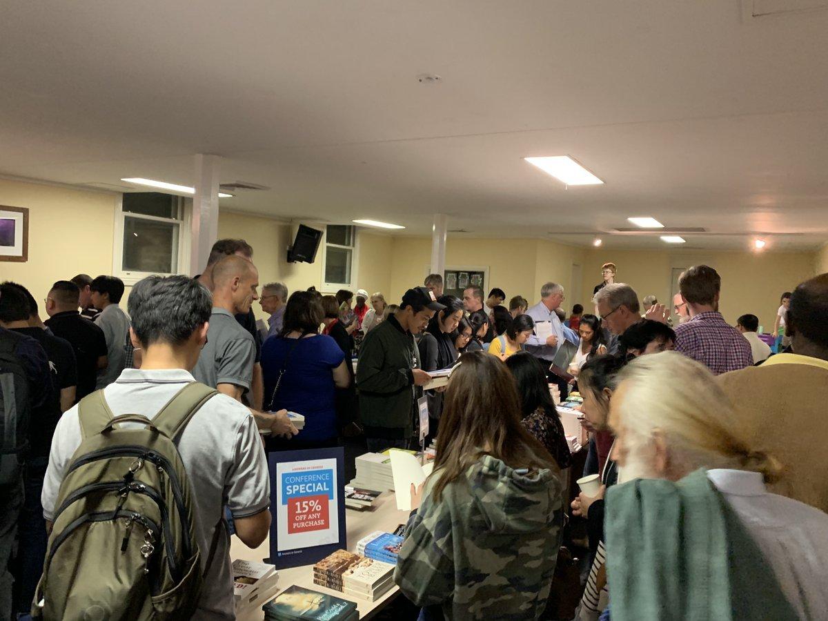 Crowds at Ken Ham's Australia Event