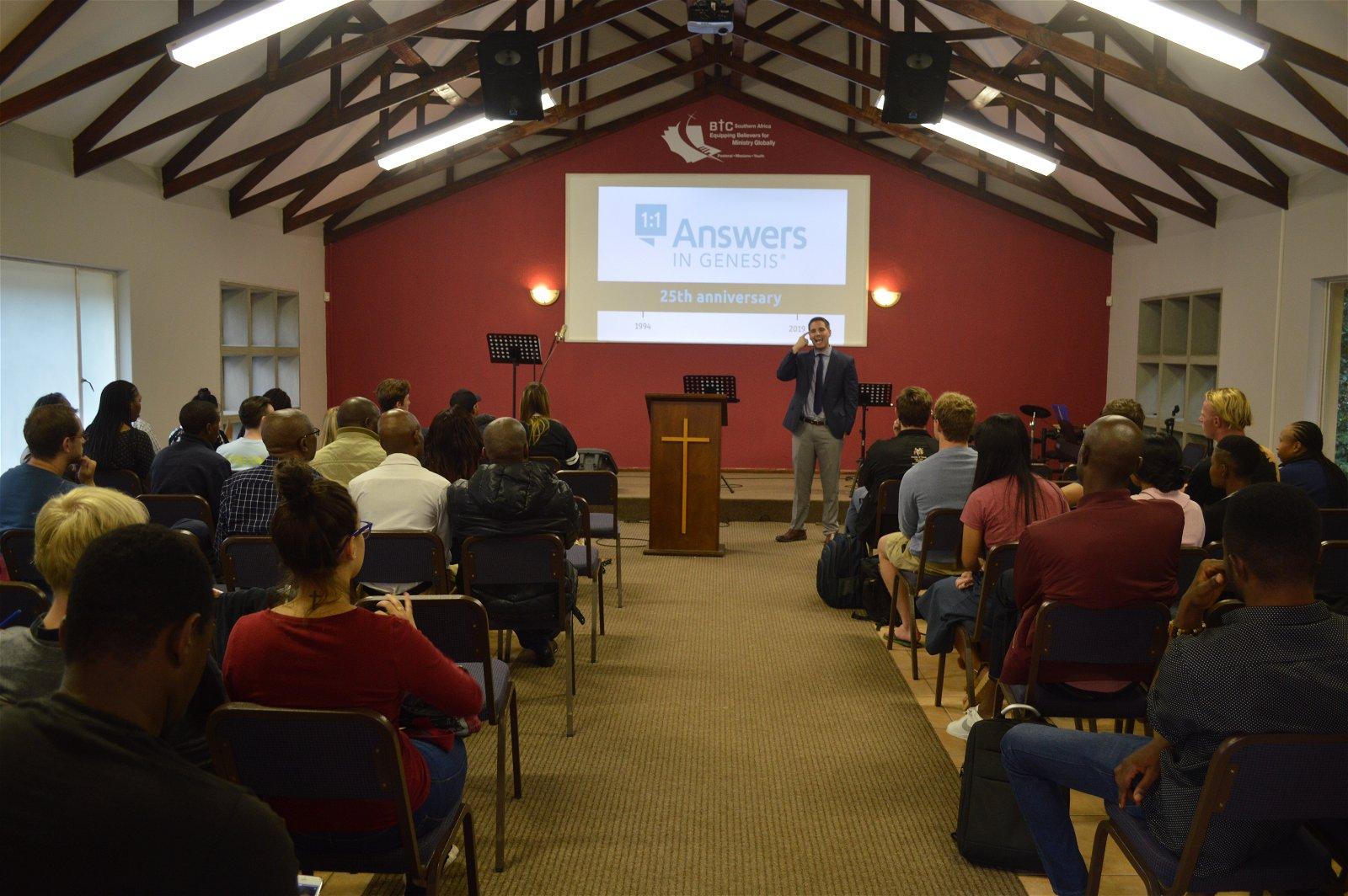 Byran Osborne speaks in South Africa=