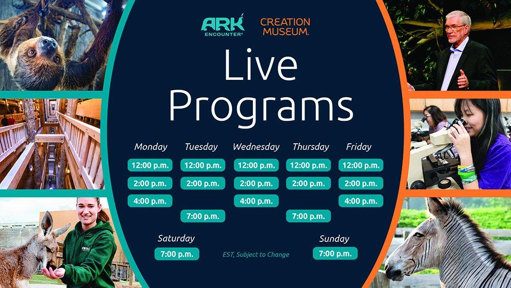 Live Programs Schedule