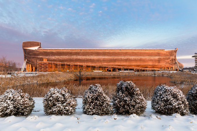 Ark Encounter Snow Day