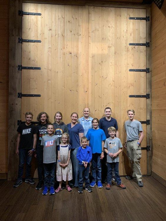 Family in front of Ark Door