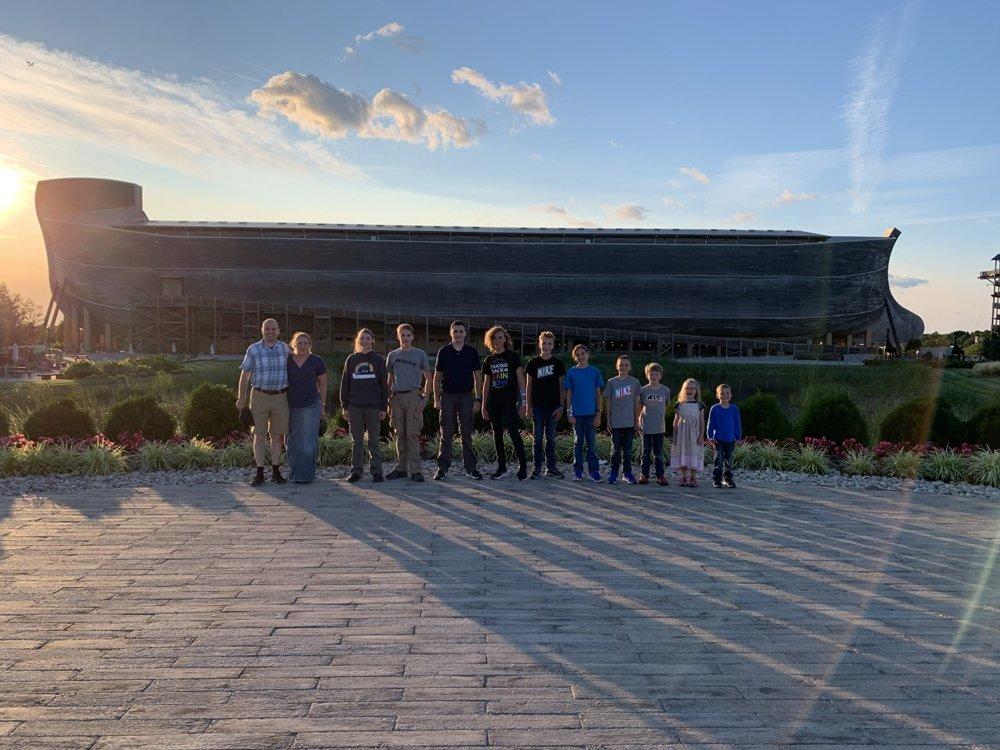 Kids in front of Ark