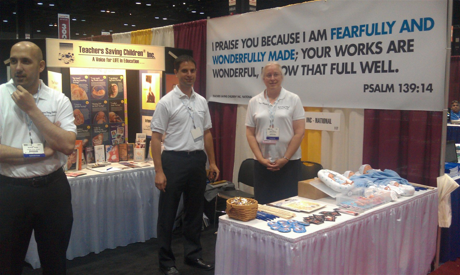 Teachers Saving Children® Booth at NEA Conference