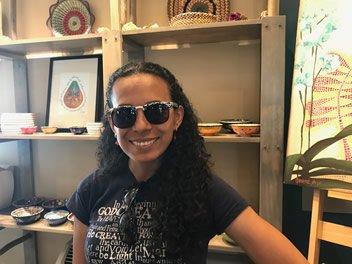 Pilar Wearing Sunglasses