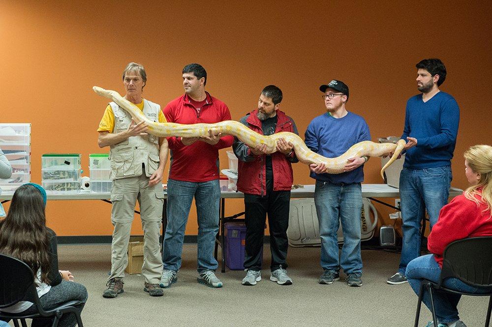 Snakes Alive Workshop at the Creation Musuem