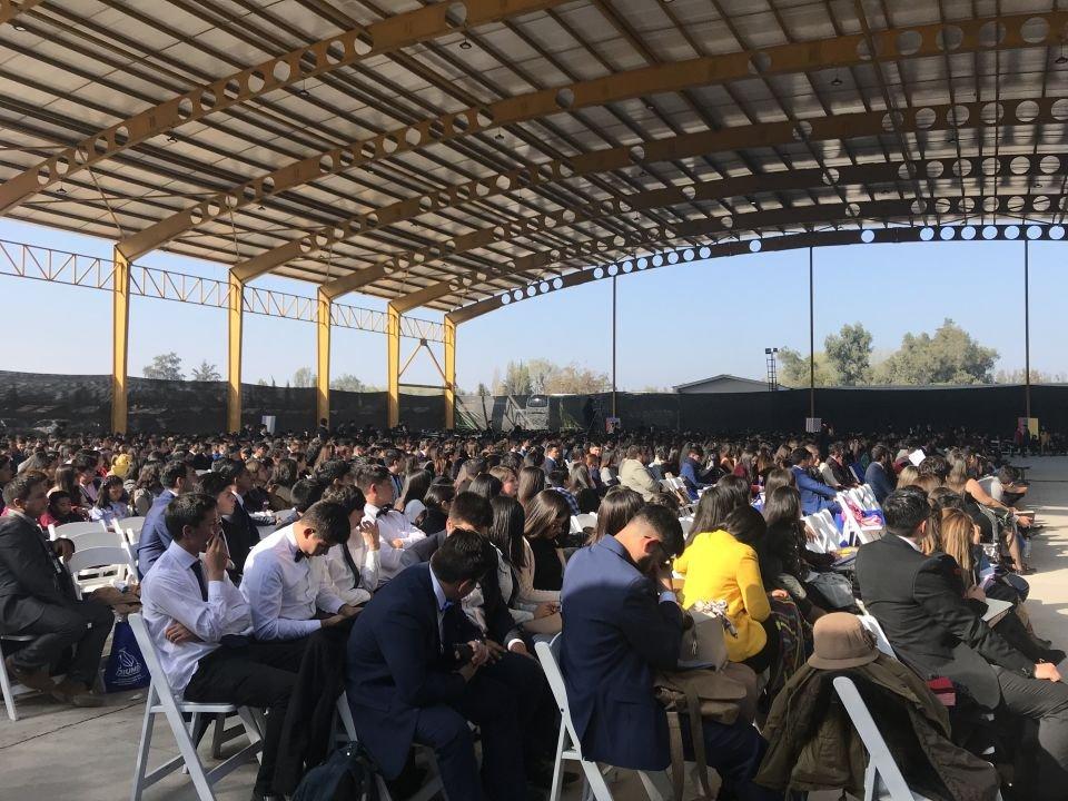 Asistentes a las conferencias en Chillán, Chile