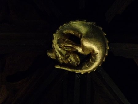 Dragon in Ceiling Carvings