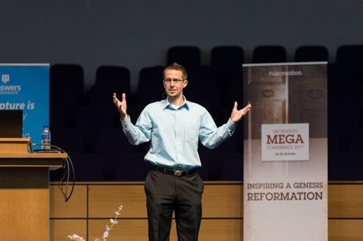 Dr. Nathaniel Jeanson at the UK Mega Conference