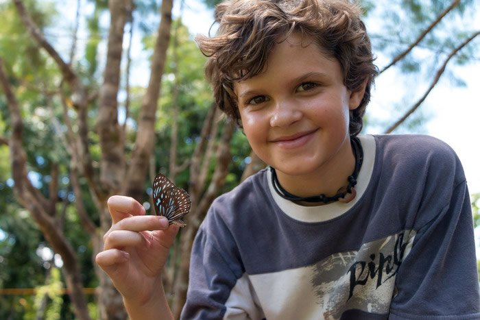 Asher with butterfly