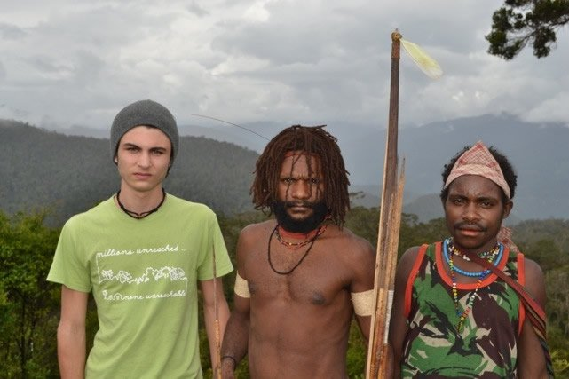 Morgan with tribal friends