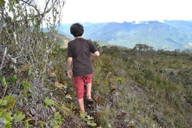 Kian hiking