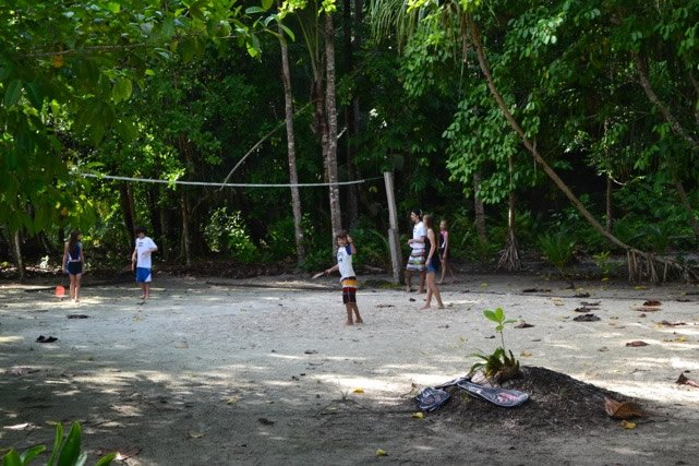 Badminton Game at Raja Ampat