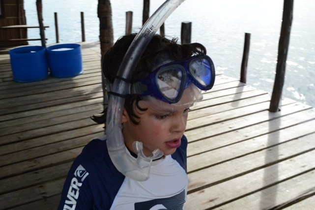 Asher with Snorkel