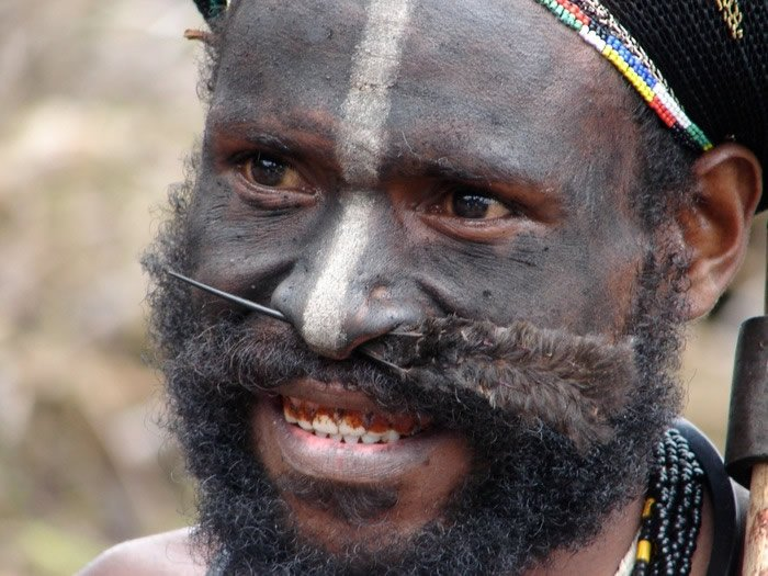 Man with Nose Feather