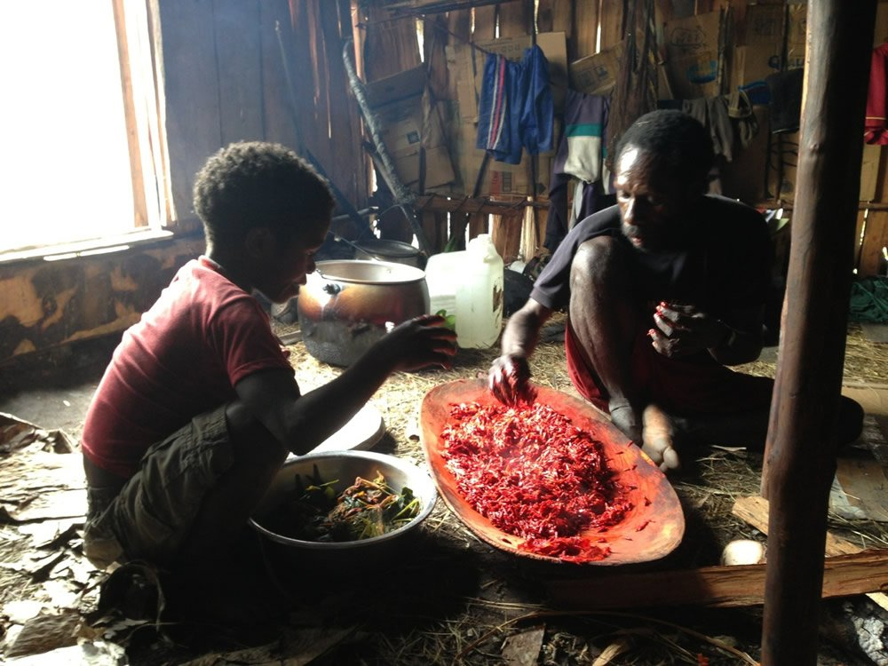 Processing Red Fruit