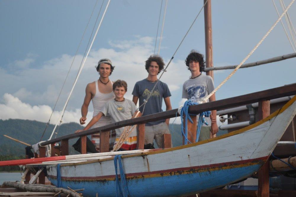 Wild Brothers on Catamaran