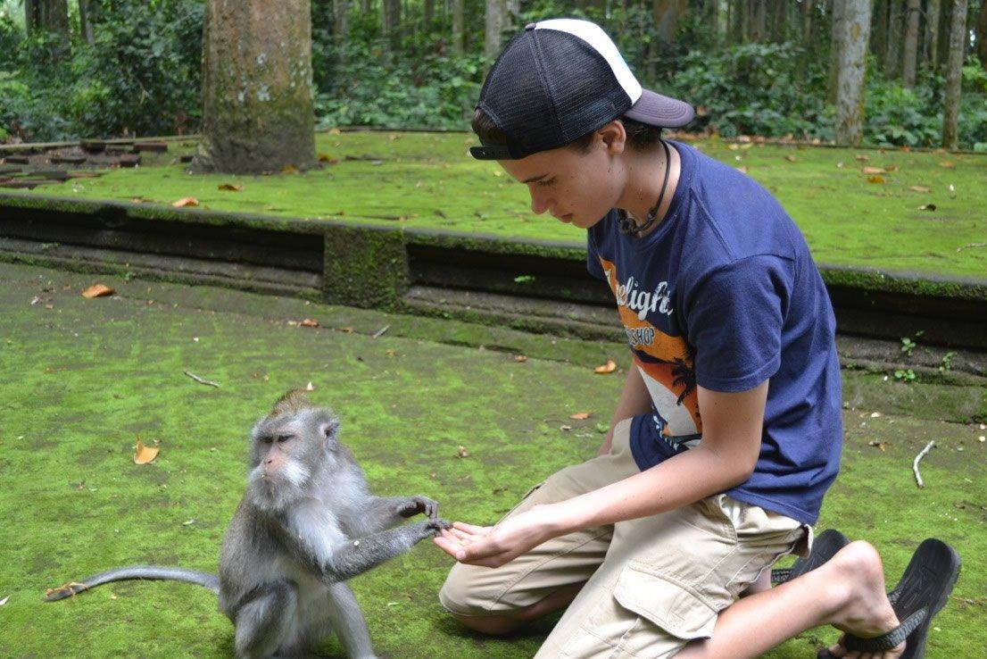 Hudson in Monkey Forest