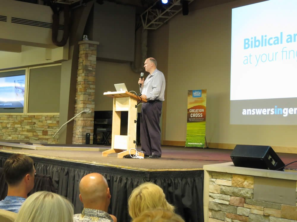 Steve Ham speaking at the Answers Mega Conference
