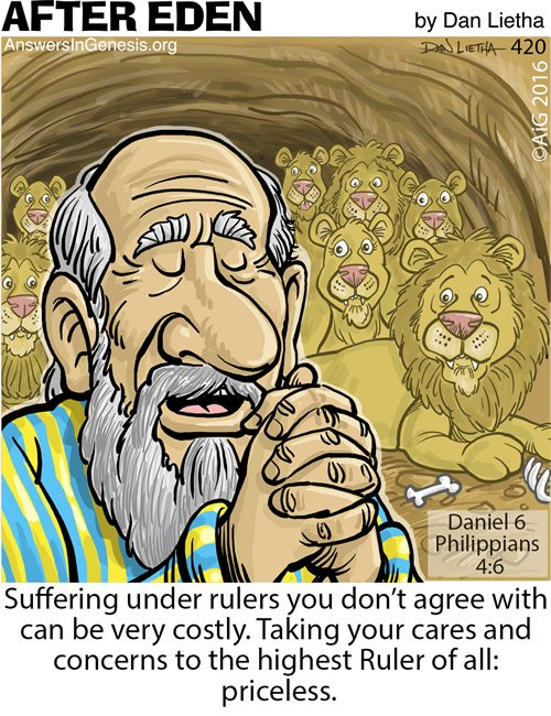 After Eden 420: Praying in the Lion's Den