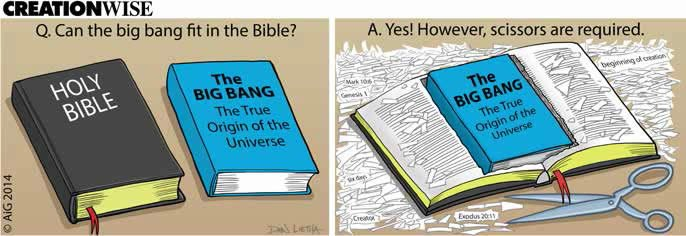 Can the big bang fit in the Bible?
