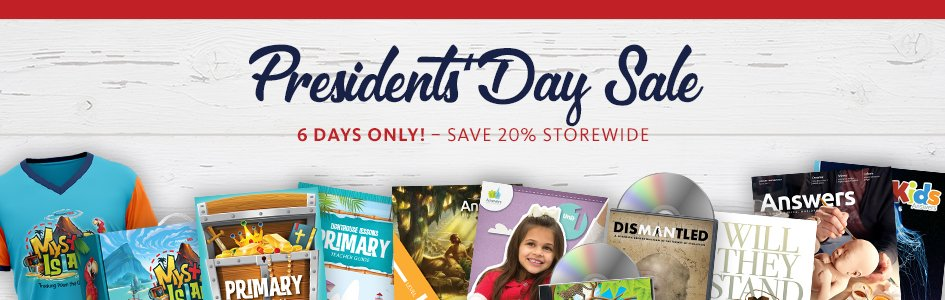 Save 20% and Get Free Shipping for President's Day