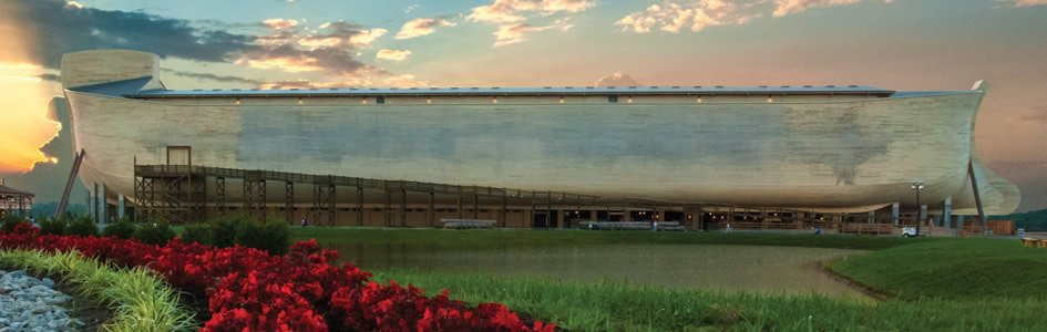 Ark Encounter with Sunset