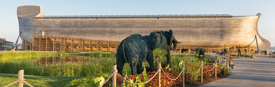 Ark Encounter with Elephant Topiaries