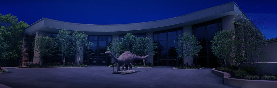 Creation Museum Grand Plaza at Night