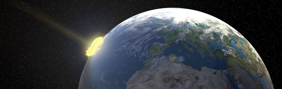 Meteor Hitting Earth Illustration