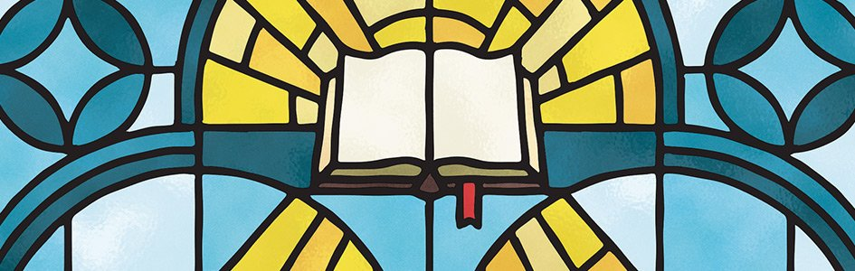 Bible Stained Glass Window