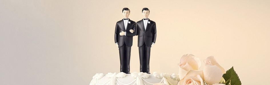 Cake Topper of Two Men
