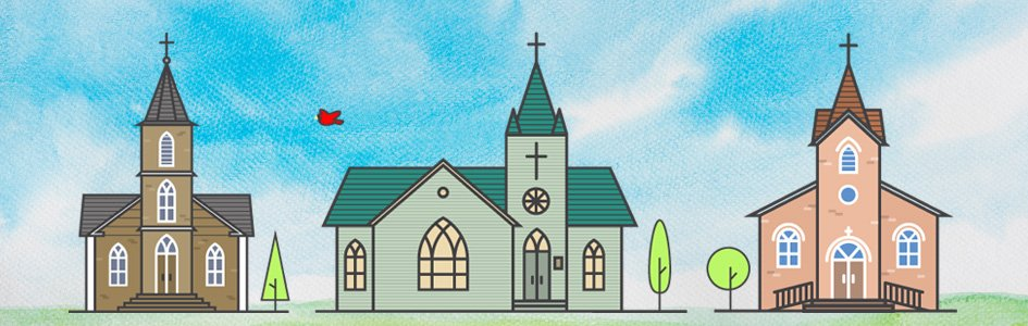 Three Churches Illustration