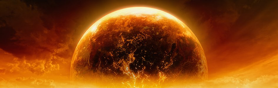 Burning Planet Illustration