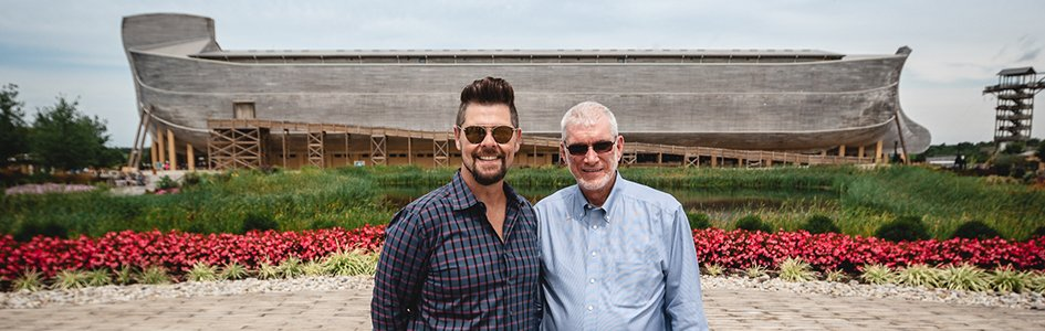 Jason Crabb, Ken Ham in Front of Ark
