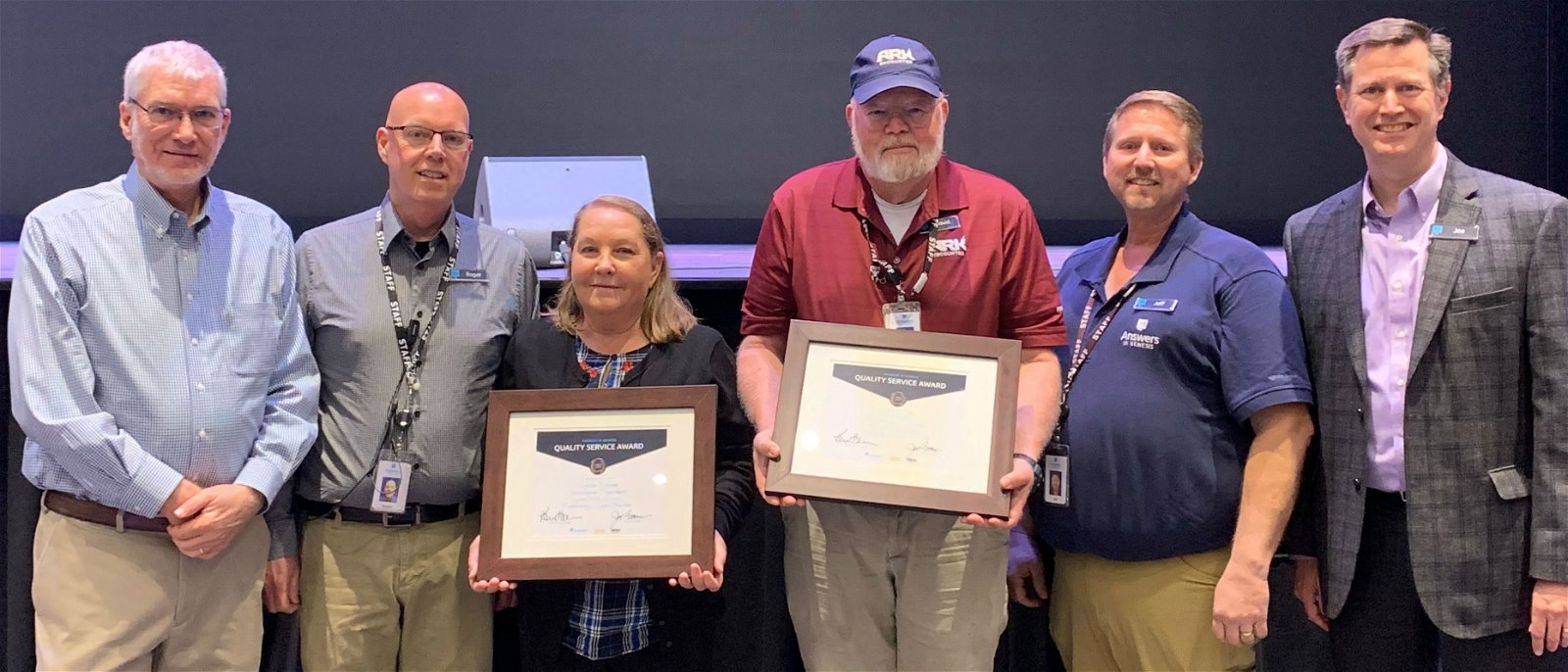 Quality Service Certificates Presented Leaders