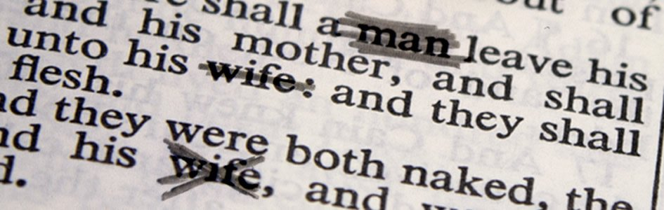 Scriptures referring to homosexuality