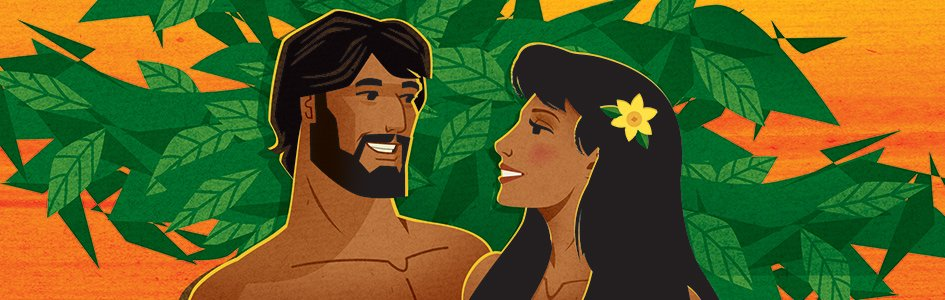 Adam and Eve Illustration