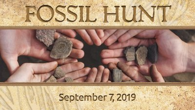 Don't Miss Our Fall Fossil Hunt, September 7