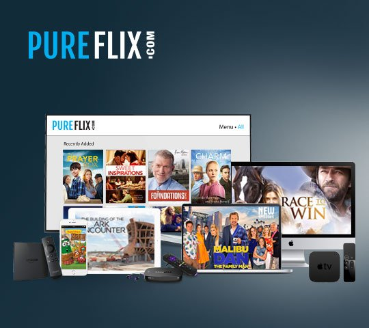 PureFlix.com content available on all devices