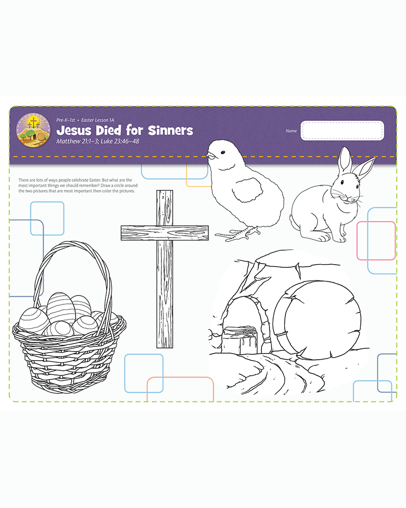 Celebrating Easter: Jesus Died for Sinners
