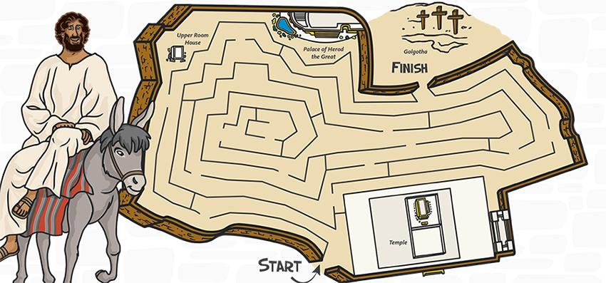 Jesus in Jerusalem Maze