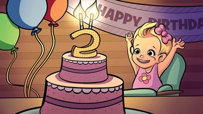 Baby Plants & Birthday Cake