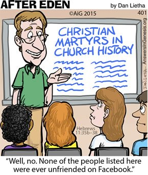 Cartoon: Unfriended for Christ