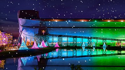 Christmas to Glow at the Ark and Creation Museum