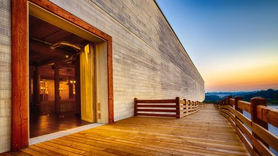 Walk up the Ark Ramp at the Ark Encounter