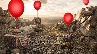 Helium in Radioactive Rocks